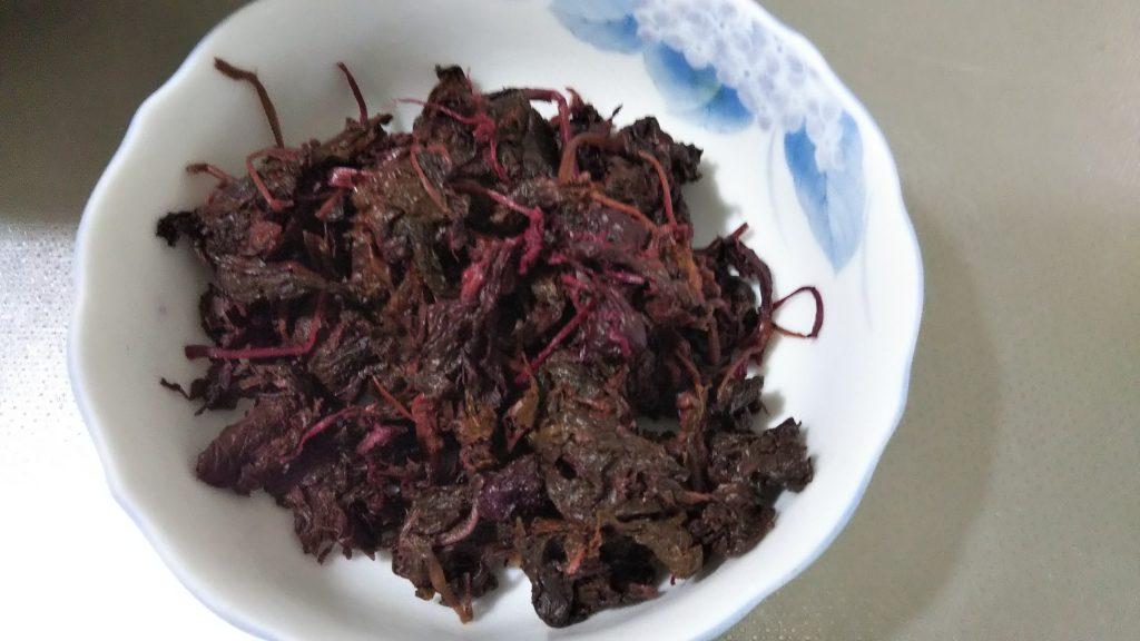梅干し漬の赤紫蘇